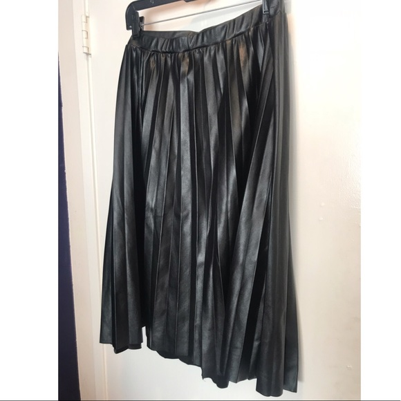22fadc2cd7d Charlotte Russe Dresses   Skirts - Charlotte Russe Faux Leather Pleated  Skirt